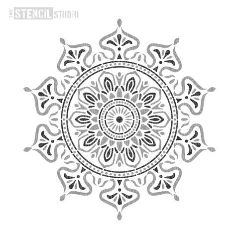 Zara Mandala Indian Motif Sjabloon A4