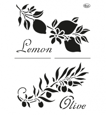 Lemon & Olive  A4 sjabloon goed gestyled brielle