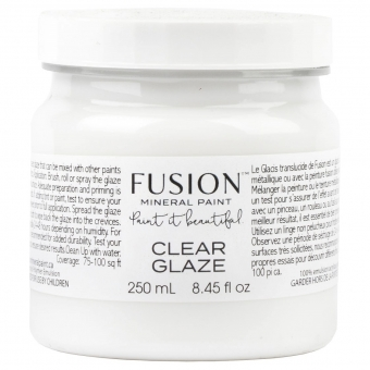 Clear glaze fusion mineral paint Goed Gestyled Brielle