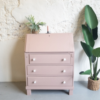 secretaire fusion mineral paint damask Goed Gestyled Brielle