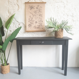 Sidetable mat zwart coal black fusion mineral paint goed gestyled brielle