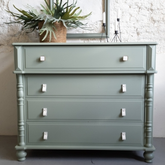 Ladekast oudgroen fusion mineral paint goed gestyled brielle