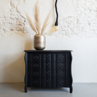 Buikkastje mat zwart Coal Black fusion mineral paint Goed Gestyled brielle
