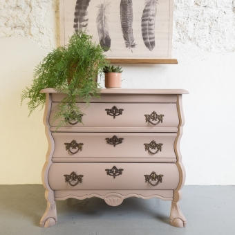 Buikkastje oud roze damask fusion mineral paint Goed Gestyled brielle