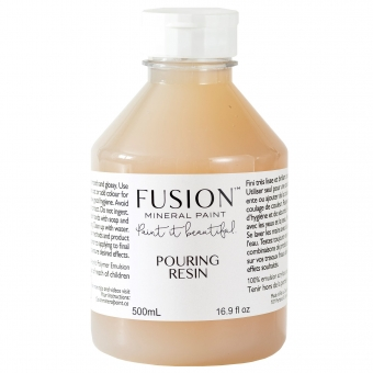Pouring Resin art fusion mineral paint goed gestyled brielle