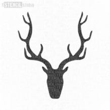 Simple Stag's Head sjabloon