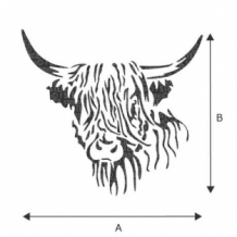 Hamish Highland Cow Stencil sjabloon A4